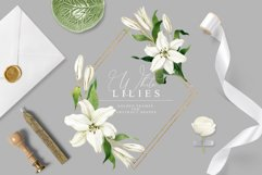 White Lilies Watercolor Collection Product Image 4