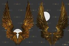 Golden Angel Wing overlay & Photoshop overlay Product Image 4