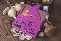 Halloween Party Witchs Hat Invitation cutting file Product Image 2
