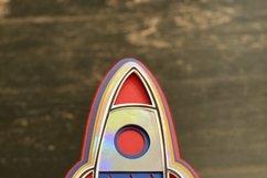 Rocket 3D Layered Design Product Image 3