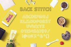 Web Font Back Stitch Product Image 3