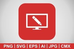 Vector Online Education Icon Product Image 1