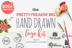 The Pretty Freakin' Big Hand Drawn Logo Design Kit Product Image 1