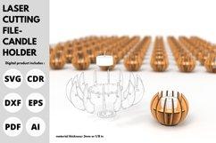 Candle Holder- SVG - laser cutting file Product Image 2