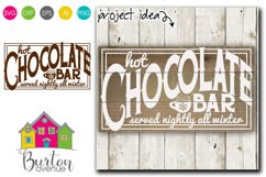 Hot Chocolate Bar Winter SVG File Product Image 1