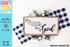 Overwhelming, Neverending, Reckless Love Of God SVG Cut File Product Image 1