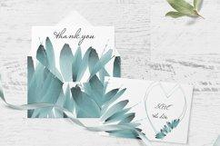 Blue foliage clipart Set Watercolor border Product Image 3
