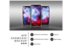 psd mockup of three iPhone 11 Pro on a metallic surface Product Image 1