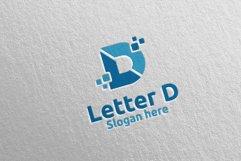 Digital Letter D Logo Design 11 Product Image 2