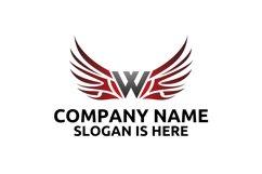 W letter logo design . Angel wing vector letter logo design Product Image 2