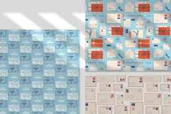 Postcards stamps vector set Product Image 4