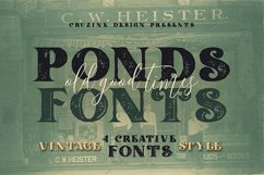 Ponds Typeface Product Image 1