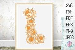 Floral Sunflower Letter L Product Image 1