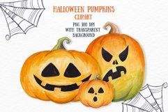 Halloween Pumpkin clipart Watercolor pumpkin set Product Image 1