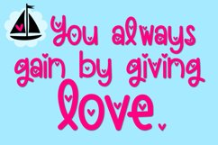 Loveboat - A Cute Font with Hearts Product Image 2