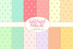 Gold Pastel Polka Dot Pattern Digital Papers Product Image 1