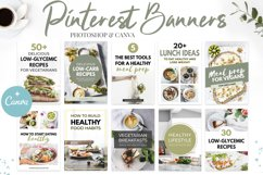 Canva Pinterest Templates in Green Product Image 1