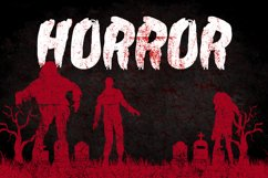 Zombie Attack Halloween Font Product Image 2