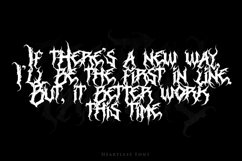 Heartless - Most Wanted Deathmetal Font Product Image 4
