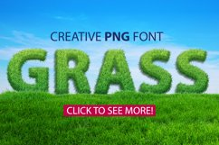 Grass spring summer alphabet. PNG graphic eco font Product Image 1
