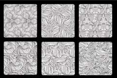 Fancy black and white seamless patterns set Product Image 2