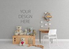 Interior mockup - blank wall mock up - nursery room Product Image 3