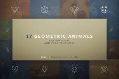 17 Geometric Animal Icons and Logos Product Image 1