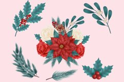 Christmas Flower Clip Art Product Image 6