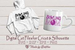 Bowling Mom svg, Mom svg, Bowling Ball SVG - Digital Cut Product Image 2