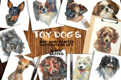 """Toy dogs"" watercolor set Product Image 1"
