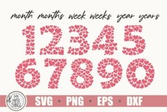 Baby Milestones svg bundle   Numbers SVG   Heart SVG Product Image 3