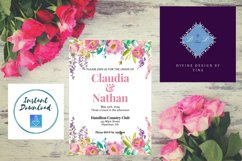 Pink Peony Watercolor Wedding Invitation Product Image 2