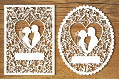 Wedding cards 3 SVG files for Silhouette and Cricut. Product Image 3