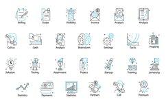 Line Flat font + line flat icon Product Image 5
