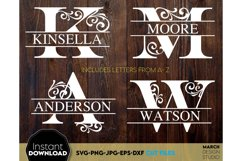 Monogram SVG, Letter Monogram SVG, A-Z Monogram SVG, Frames Product Image 1