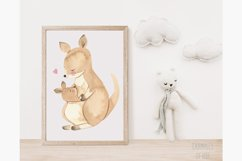 Australian animals clipart. Watercolor mother and baby. Product Image 6