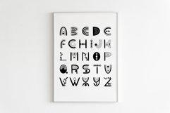 Abstract Boho Rainbow Decor, Black and White Alphabet Poster Product Image 1