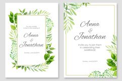 Floral Wedding invitations vector set Product Image 4
