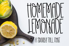 Homemade Lemonade - A Swirly Tall Font Product Image 1