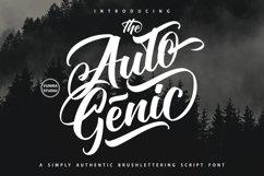 Autogenic | Brush Lettring Font Product Image 1
