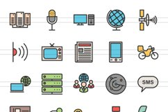 140 IT & Communication Filled Line Icons Product Image 3