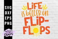 Summer Flip Flop SVG PNG DXF EPS | Summer Vacation SVG Product Image 1