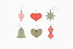 Vintage Christmas clipart | Cozy Holiday clipart ornaments Product Image 3
