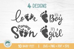 Baby Feet Bundle - A Baby Feet SVG Product Image 3