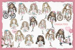Cute Teen Girls 3, Digital Clipart, Fashion Girls, Valentine Product Image 4