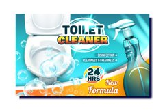 Toilet Cleaner Creative Advertising Poster Vector Product Image 1