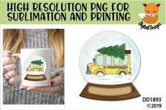 Christmas School Bus Driver Snowglobe Sublimation Product Image 1