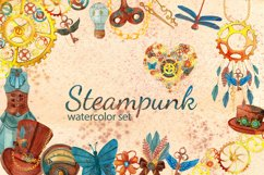 Steampunk watercolor clipart set Product Image 1