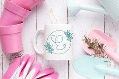 Web Font Floral Spring Monogram Product Image 4