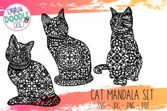Mandala Cat SVG Set For Cricut & Silhouette Product Image 6